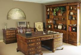 retro home office. catchy vintage home office furniture dark blue walls desk and chair of retro t