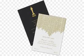 Award Paper Template Custom Wedding Invitation 48th Academy Awards Oscar Party Oscar Png