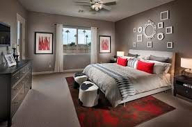 gray and red bedroom. gray and red bedroom y