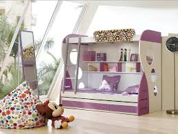 Next childrens bedroom furniture Room View In Gallery Purple And White Bunk Beds With Ladder Decoist Choosing The Right Bunk Beds With Stairs For Your Children