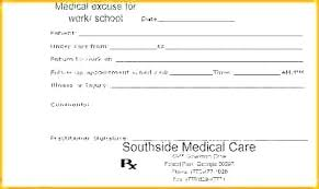 Emergency Room Doctor Note Template Unique For Work Return To Fake