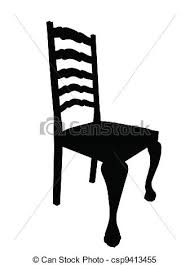 dining chair clipart. antique dining table chair silhouette isolation - csp9413455 clipart t