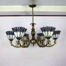 tiffany solar lights blue shape tiffany chandelier lighting european mediterranean