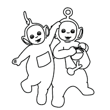 Teletubbies Coloring Page Full Size Color It Teletubbies Coloring