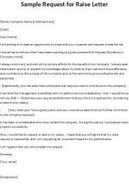 How Write A Pay Raise Letter Sample Request For Professional Salary