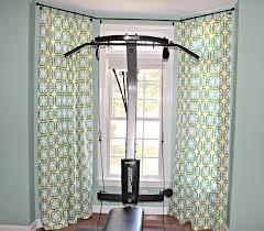 image of bay window curtain rod umbra