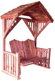 cedar covered garden swing bench seat