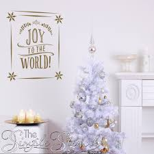joy to the world snowflake frame wall decal