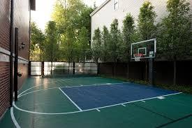 diy basketball hoop landscape traditional with sport court sport court