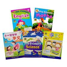 Pre Primary English Chinese Maths Science Activity Books