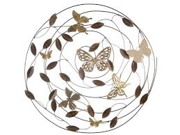 metal erfly wall decor round