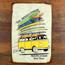 Surf Signs Decor Summer surf board mark Metal Plaque Vintage Bar Iron painting 2