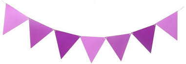 Triangle Banner Large Triangle Pennant Banner Purple Ombre