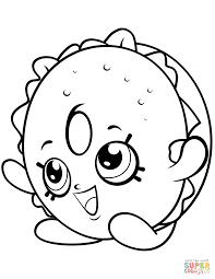 Bagel Billy Shopkin Coloring Page Free Printable Pages New And Mandy