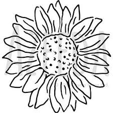 large sunflower wall stencils for