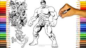 With their high action heroism, personable avengers the hulk coloring page from marvel's the avengers category. Hulk Coloring Pages The Avengers Hulk Coloring Book Youtube