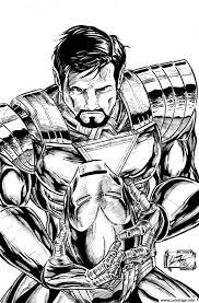 Coloriage Enfant Iron Man