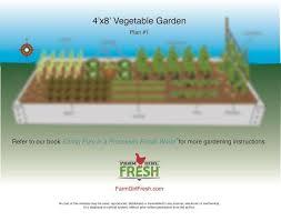 x 8 vegetable garden plan