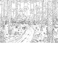logging coloring pages trees logging rainforest coloring page download print online