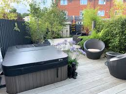 one client two landscaped gardens in
