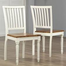 antique white oak dining chair set of 2