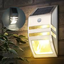 Solar Powered Outdoor Lights For Steps Solar Powered Pir Motion Sensor 2 Led Security Light Garden