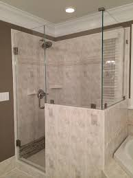 90 degree shower with upgraded glass clamps and low iron glass mia shower doors