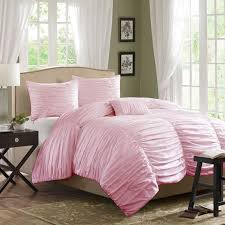 pink full comforter set luxury girls lace ruffle tulle bowtie princess bedding sets 17