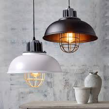 metal loft lamp shade vintage chandelier pendant lighting fixture black white