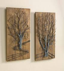 wall art designs metal and wood wall art art metal tree on wooden intended for