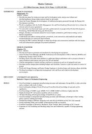 Mechanical Design Engineer Resume Samples Design Engineer Resume Samples Velvet Jobs