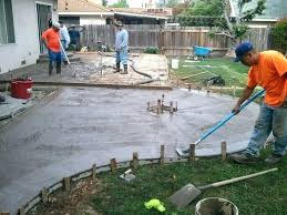 building a concrete patio laying amazing for your best design how to build92