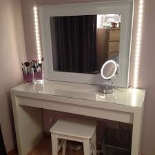 Simple Vanity Table With Lighted Mirror Doherty House Create A