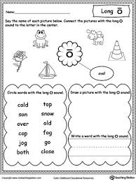 These worksheets help kids learn to use letters to make sounds and words. Long O Sound Worksheet Vowel Worksheets Phonics Worksheets Long Vowel Worksheets