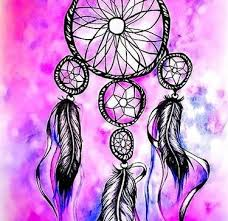 Purple Dream Catcher Tattoo Simple Indian Feather Tattoo Design 85