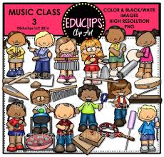 15 music jpg transparent kids professional designs for business and education. Music Class 3 Clip Art Bundle Color And B W Edu Clips