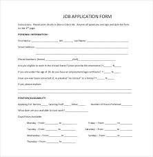 Job Application Template 24 Examples In Pdf Word Free