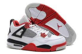 jordan shoes retro 4. nike air jordan 4 shoes men\\\u0027s white black red retro