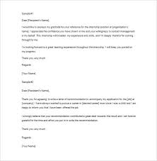 Thank You Letter Reference 8 Thank You Letter For Recommendation Pdf Doc Free