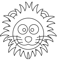 Small Picture Cartoon Lion Head coloring page Free Printable Coloring Pages