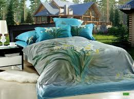 3d bedding sets fl blue green turquoise calla comforters with regard to king size comforter inspirations 2