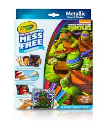 Crayola Color Wonder Teenage Mutant Ninja Turtles Metallic Coloring