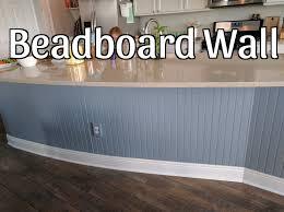 Kitchen Island Beadboard Beadboard Wall On Kitchen Island Youtube