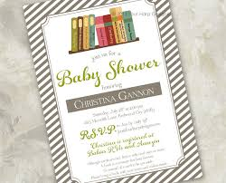 Baby Shower Invitations Story Book Themed Mom And Baby Owl Moon Library Themed Baby Shower Invitations