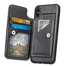 vine book leather case for iphone x 8 7 7 plus 6 6s plus card wallet