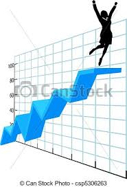 Person Chart Business Person Up On Company Growth Success Chart