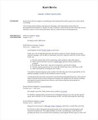 Sample Software Developer Resume Senior Software Engineer Resume