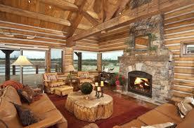Log Cabin Living Room Design Modern Cabin Living Room Decorating Idea Log With Fireplace