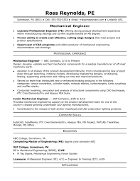 Resume Sample Resume For A Midlevel Mechanical Engineer Monster