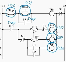 plc application for reduced voltage start motor control Autotransformer Motor Starter Wiring Diagram real inputs and outputs to the plc autotransformer motor starter circuit diagram